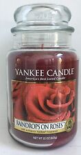 Yankee Candle RAINDROPS ON ROSES 22 oz Jar My Favorite Things Collection Rare