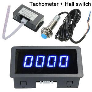 Blau-Digital-LCD-Drehzahlmesser-Hour-Meter-Achometer-Gauge-RPM-Pruefvorrichtung