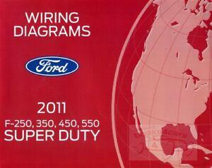 Ford 2011 F250 F350 Truck Wiring Diagram Service Repair Book Super Duty F450 550 Ebay