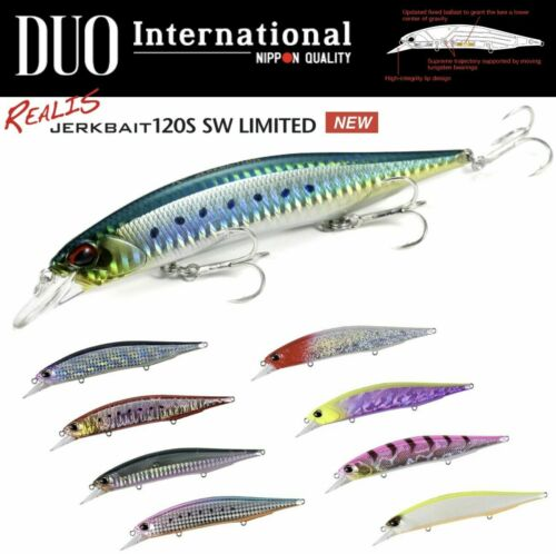 DUO INTERNATIONAL ULTIMATE SALTWATER JERKBAIT LURE REALIS 120S SW LIMITED
