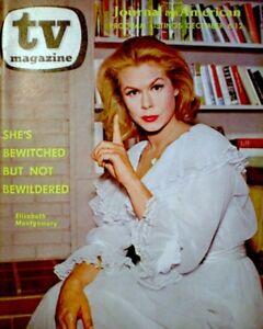 TV-Guide-1964-1st-App-Bewitched-Elizabeth-Montgomery-Regional-EX-NM-COA-Rare