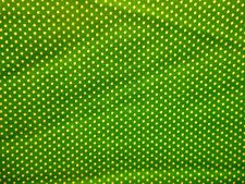 VINTAGE QUILT FABRIC-ELY&WALKER CALICO PRINT- SMALL WHITE POLKA DOTS ON GREEN