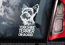 Yorkshire Terrier - Car Window Sticker - Dog Sign -V01