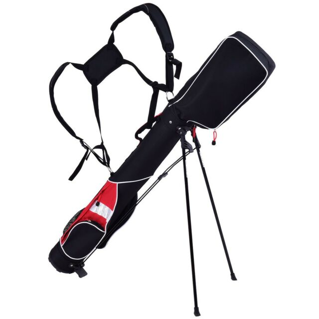 5 Lightweight Sunday Golf Bag Stand 7 Clubs Carry Pockets Travel Storage Us