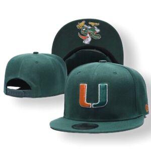 NEW-ERA-9-FIFTY-MIAMI-HURRICANES-NCAA-ADJUSTABLE-HAT-CAP-NEW-GREEN