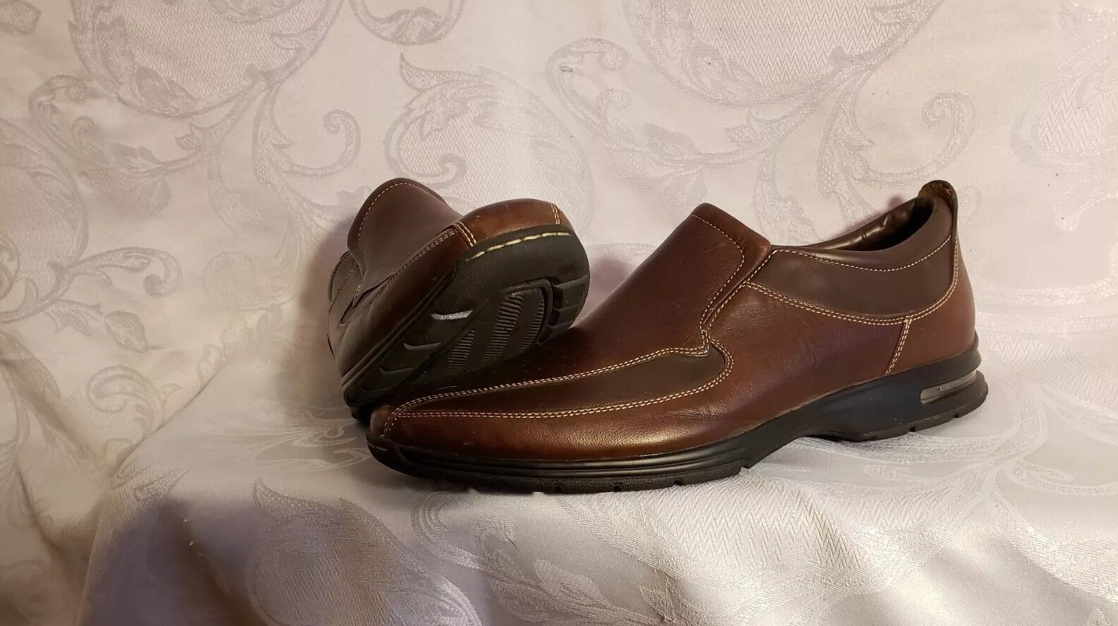Cole Haan  NA  Men's Sz 13 Two -  Tone Brown Loafers
