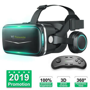 Details about 3D Virtual Reality Gaming PC VR Headset Movie VR Game Glasses for Mobile Phone