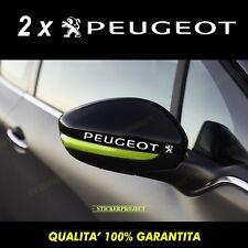 Adesivi Specchietti PEUGEOT 208 - 308 - 207 - 307 - 206 - 108 Mirror sticker X2