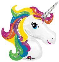 "33"" Rainbow Unicorn Shape Mylar / Foil Balloon"