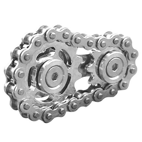 Gold+Silver 1//2Pcs Fingertip gyro sprocket Sprocket Flywheel Fingertip Toy