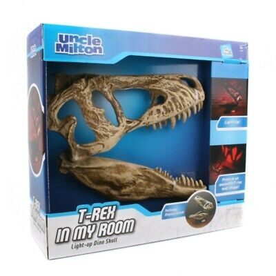 Vendita Calda Uncle Milton Nella Mia Stanza T-rex Light Up Dino Dinosauri Ossa Craniche Decorazione Da Parete-mostra Il Titolo Originale Saldi Di Fine Anno