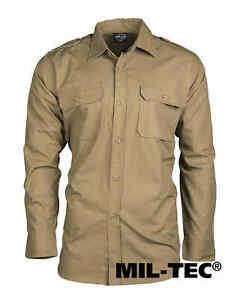 MIL-TEC-campo-Camicia-ripstop-Coyote-tempo-libero