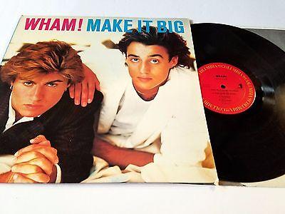 "Wham ""Make It Big"" Vinyl LP Columbia Records 39595 w/ Orig Inner George Michael"