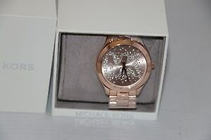 8fa31b38350d Michael Kors Women s Slim Runway Rose Gold-Tone Stainless Steel ...