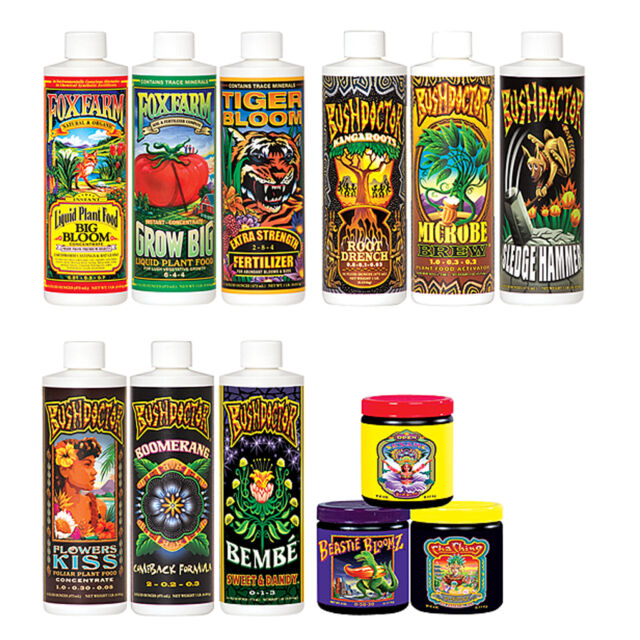 FoxFarm Dirty Dozen Starter Kit, Big Bloom,Tiger Bloom,Grow Big,Beastie,Ching