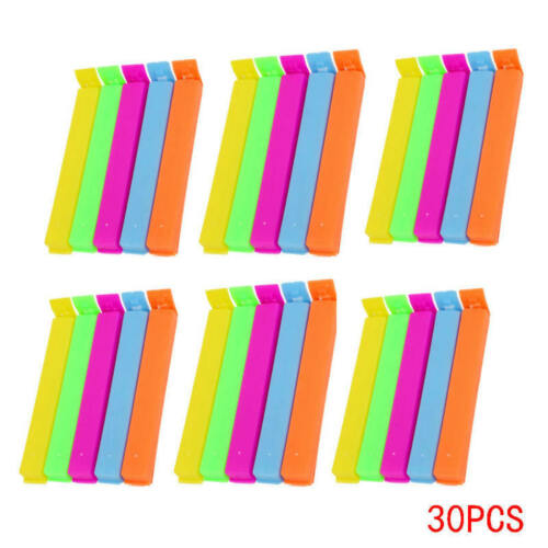 30pcs Durable Kitchen Storage Food Snack Seal Sealing Bag Clips Clamp P TVN