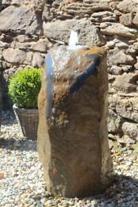 Wasserspiel-SET-Quellstein-Monolith-97cm-Basalt-Gartenbrunnen-inkl-Pumpe