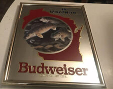 Budweiser Beer Walleye Mirror Wisconsin Fish Fishing