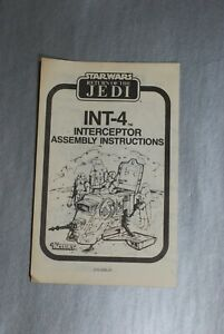 INSTRUCTIONS-VINTAGE-STAR-WARS-INTERCEPTOR-INT-4-KENNER-insert-int4-booklet