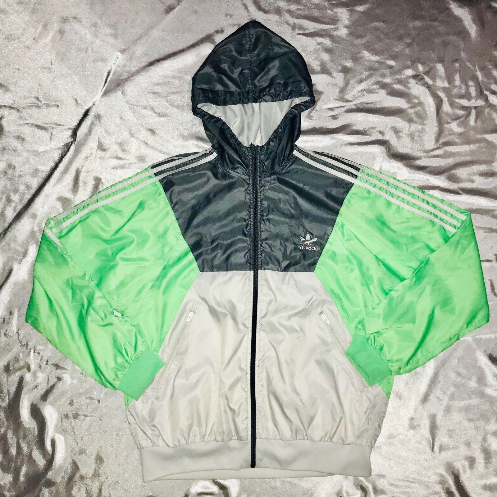 Windjacke Jacke Original Adidas Vintage Rare Super Grün XL