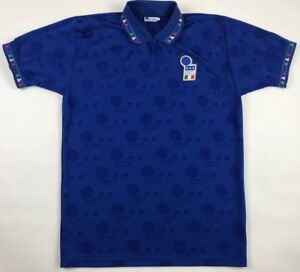 Vintage-1994-World-Cup-Italy-National-Soccer-Team-Diadora-Jersey-Large-L-Retro