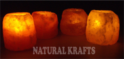 4 X Cristalli Dell'himalaya Sale Grosso Candela Tea Light Holder 100% Naturale Regalo Di Natale-