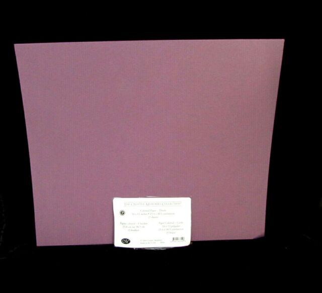 Creative Memories Cardstock Thistle Purple 10x12 Colonial Paper 2 pk = 10 Sheets
