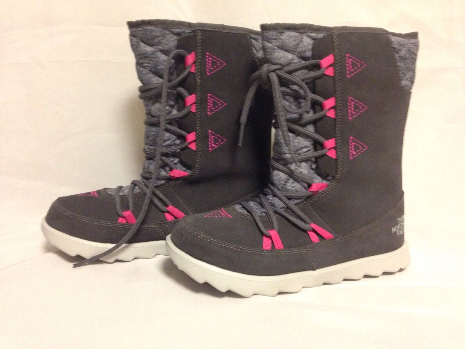 The North Face Damenschuhe Thermoball Apres Bootie Plum Kitten Grau New with Box