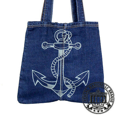 14. Ancoraggio Anchor Jeans Denim Tote Bag Marionelli Borsa Sacchetto Borsa In Tessuto-mostra Il Titolo Originale