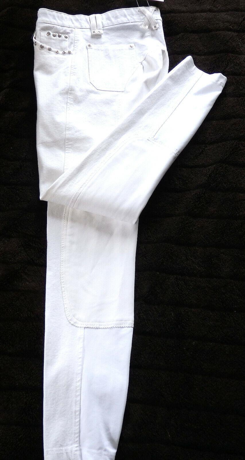 KYRON Donna Pantaloni Montala lexy6  G, guarnizione in pieno TG 88, bianco, Glitzersteine 231