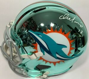 more photos 95312 64224 Details about DAN MARINO SIGNED MIAMI DOLPHINS CHROME FULL SIZE FOOTBALL  HELMET SPEED PSA/DNA