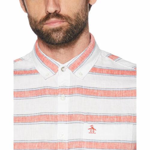 Sleeve White Bright Stripe Short Horizontal Shirt Opws9116gp Penguin qnY5Rx7