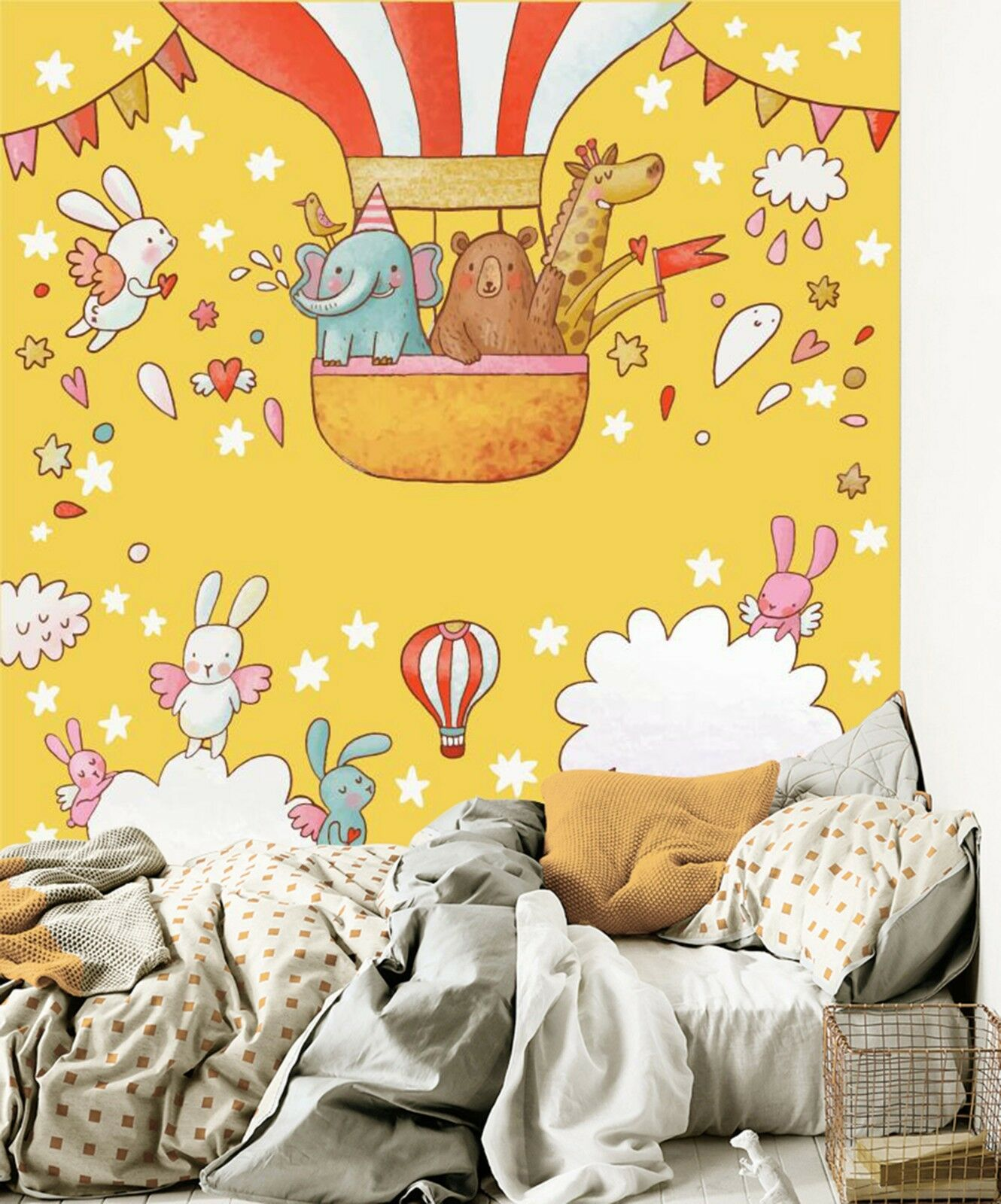 3D Fun animals 6455 Wall Paper Wall Print Decal Wall Deco Indoor Wall Murals