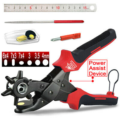 Heavy Duty Hole Punch Plastic Plier Puncher With 6 Hole Sizes For Leather Produc