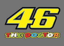 2 x Start number Valentino Rossi 46 THE DOCTOR Sticker Moto GP Motorcycle Car