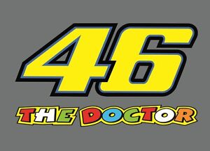 Sticker 46 valentino rossi - 2 X Start Number Valentino Rossi 46 The Doctor Sticker