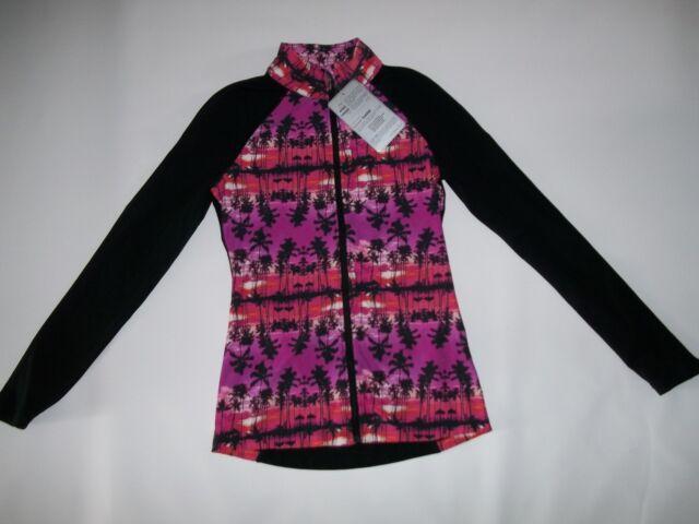 LORNA JANE Active Paradise Printed Maxum Fitness JACKET Womens Size XS  $99  NEW