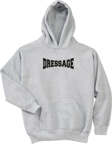 Dressage Soft Finish Lettering Horse Lovers Hoodie Multiple Colors /& Sizes