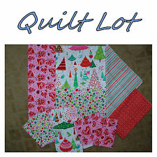 BonEful Fabric Cotton SCRAP QUILT LOT Xmas Valentine Heart Lady*Bug Grinch Tree