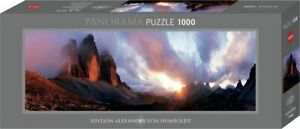 "NEW Heye Jigsaw Puzzle Game 1000 Pieces ""3 Peaks Panorama"" - Al. Von Humboldt"