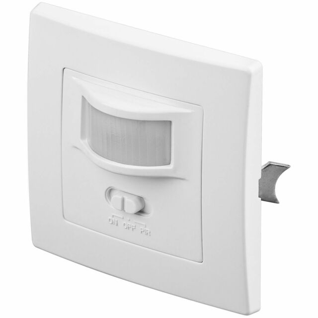 LED Infrarot Bewegungsmelder Unterputz UP Einbau weiss Sensor Bewegungssensor