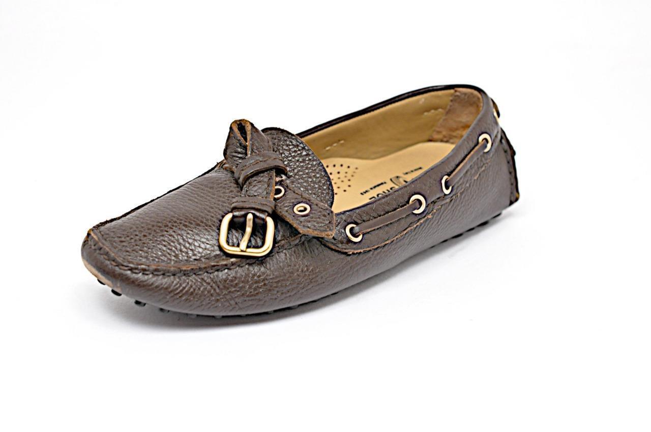 El Zapato De Coche Coche Coche Original Marrón Cuero Mocasines Suelas De Goma Guijarro Guijarro Talla 35 US5  Con precio barato para obtener la mejor marca.