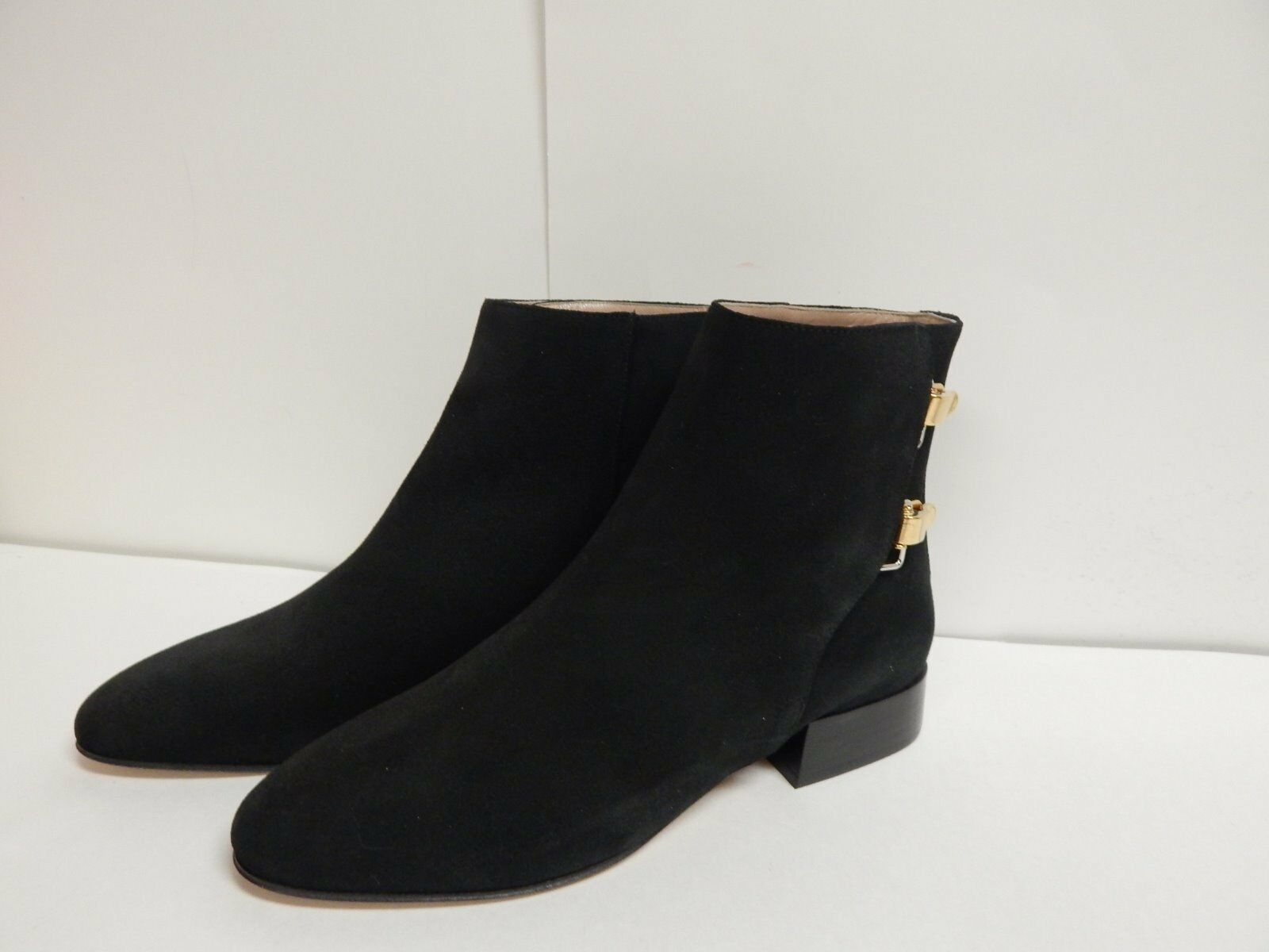 Chloe Double Buckle Ankle Boot AUTHENTIC  Black Suede  New with Box