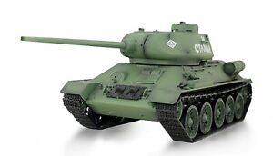 RC-Panzer-T34-85-1-16-Advanced-Line-II-mit-Rauch-Sound-Schussfunktion-IR