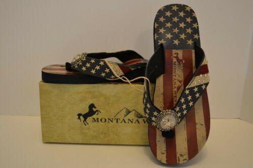 Pride Star Concho Flat// Multi Montana West Women Flip Flops American Flag