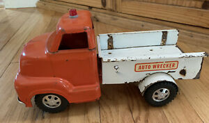 Vintage-1950-039-s-Dunwell-Toys-Auto-Wrecker-Truck-Pressed-Steel-Very-Rare-Collect