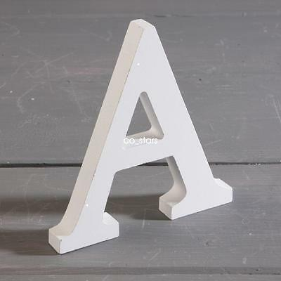 8cm White Wooden Alphabet A-Z Wedding Name Mr & Mrs Freestanding 0-9 Letters