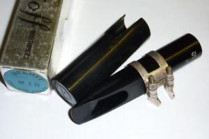 Impartial Rare Noir Dukoff Miami Floride M10 Saxophone Ténor Embout Buccal-afficher Le Titre D'origine Ferme En Structure