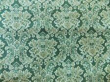WtW Fabric Fleur de Lis SSI Strole Art Deco Nouveau Green Floral Pattern Quilt