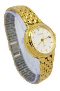 Sekonda Damas Cuarzo Reloj de Vestir Pulsera de oro de tono Grupo de Suministradores Nucleares A18